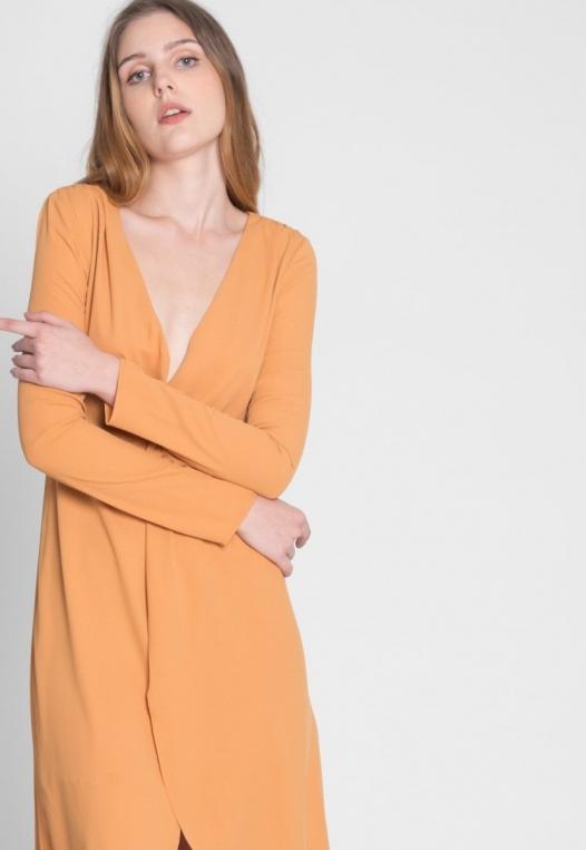 Surprise Front Twist Midi Dress alternate img #7