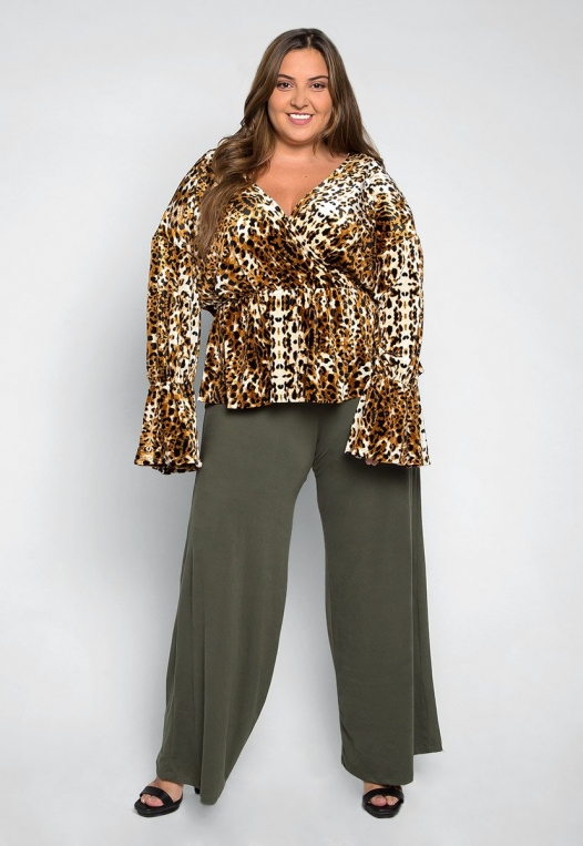 Plus Size Wildcat Wrapped Blouse alternate img #4