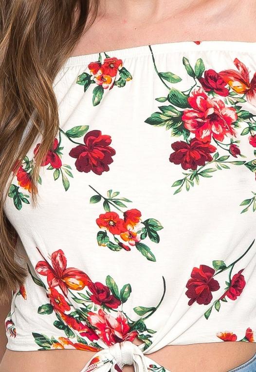 Moira Floral Off Shoulder Knit Top alternate img #8