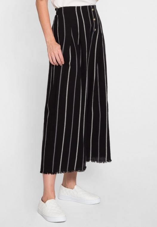 Granada Button Front Stripe Culottes alternate img #5