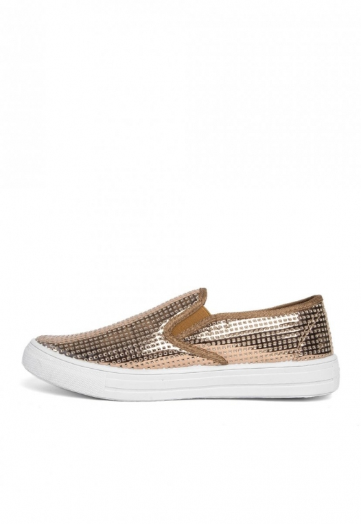 All That Glitters Metallic Slip On Sneakers alternate img #3
