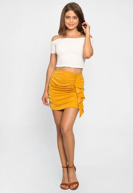Solstice Ruched Mini Skirt alternate img #5