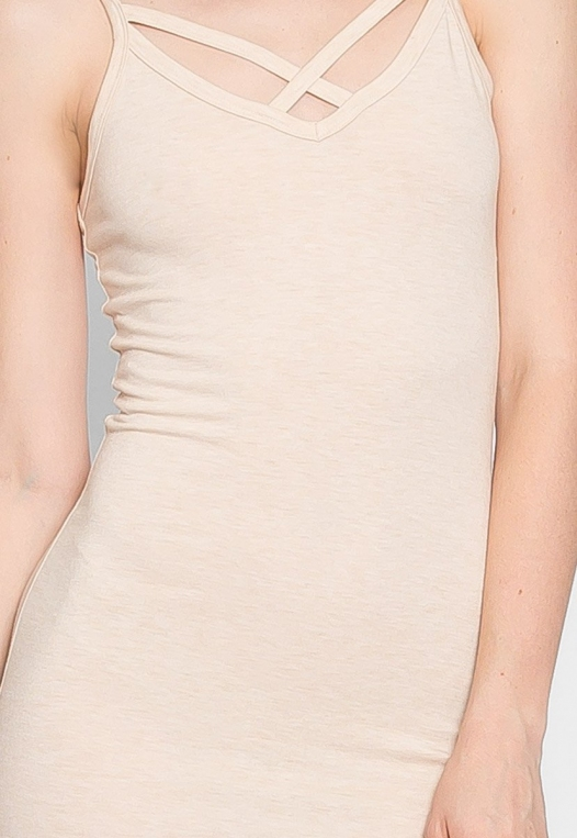Day Out Knit Bodycon Dress in Beige alternate img #7