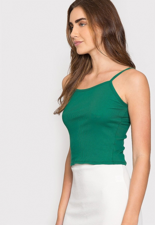 Dreams Crop Tank Top in Green alternate img #5