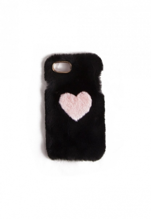 Fuzzy Heart Phone Case alternate img #2