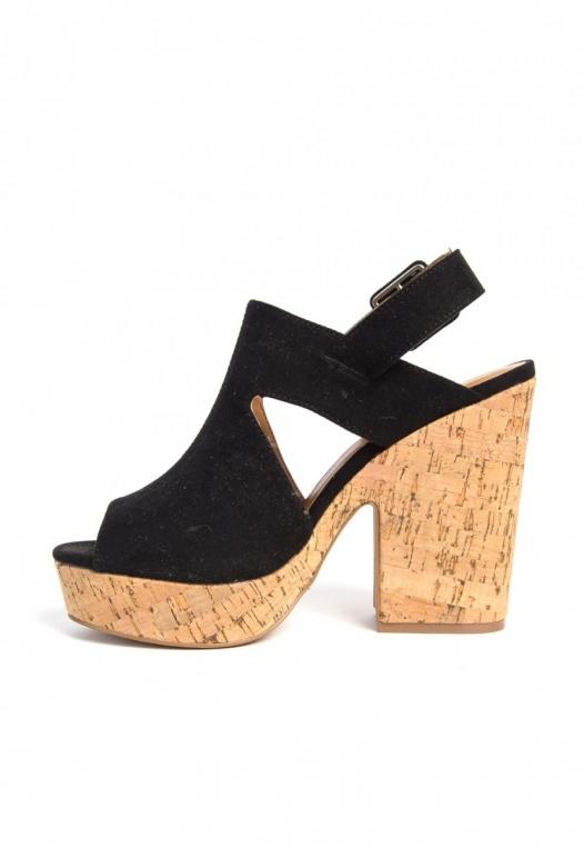 Good Stuff Cork Platform Wedge Sandals alternate img #3