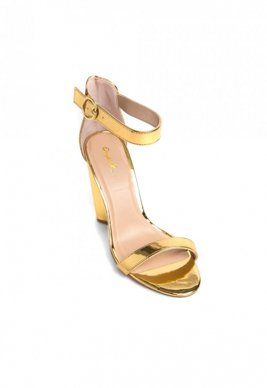 The Vault Metallic Ankle Strap Heels alternate img #4