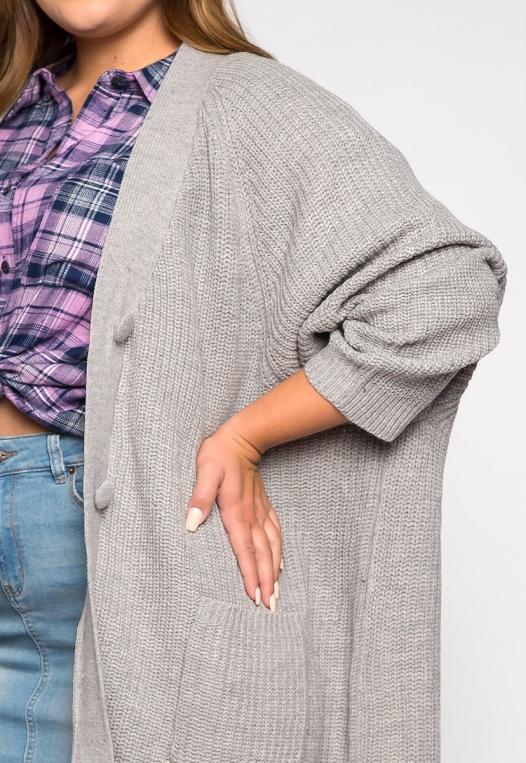 Plus Size Lila Oversized Button Front Cardigan alternate img #6