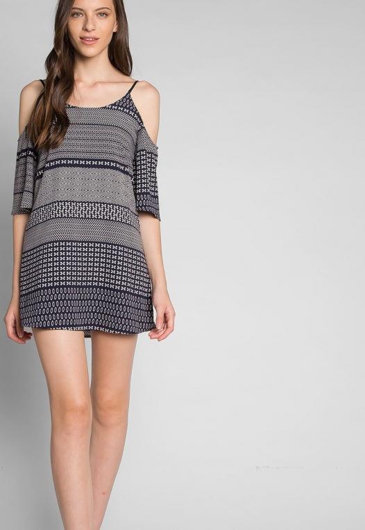 Good Vibes Printed Mini Dress alternate img #5