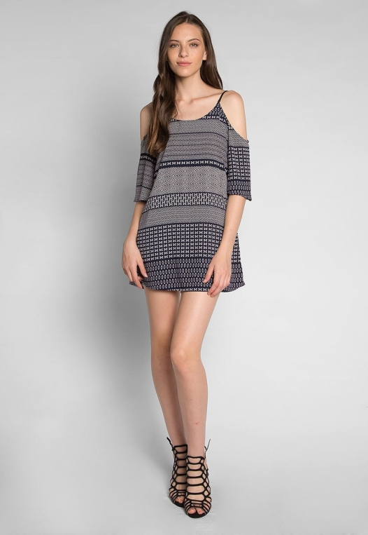 Good Vibes Printed Mini Dress alternate img #4