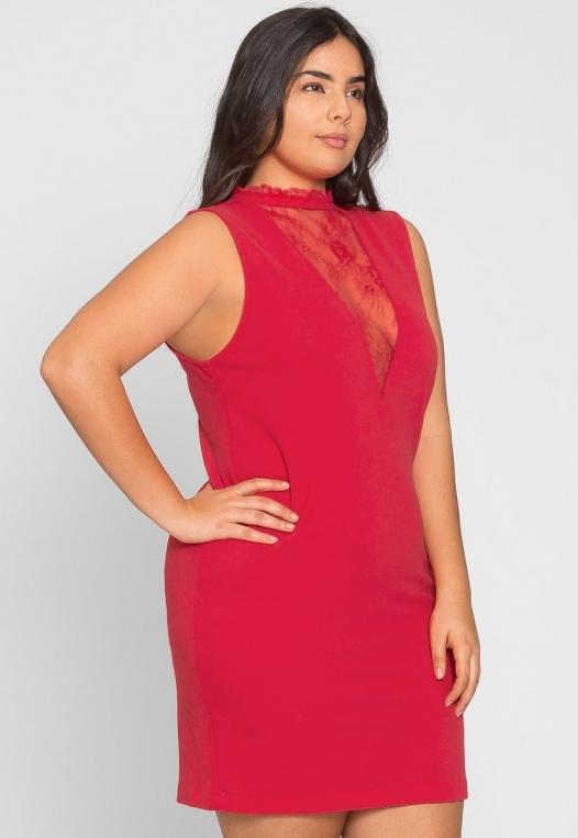 Plus Size Celebration Dress in Red alternate img #2