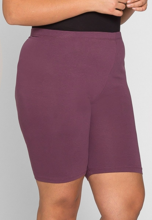 Plus Size Blake Biker Shorts in Cabernet alternate img #3