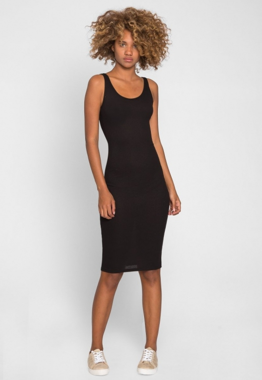 Hugs and Kisses Bodycon Dress in Black alternate img #4