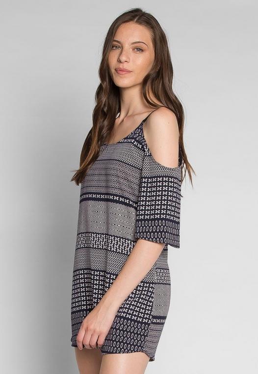 Good Vibes Printed Mini Dress alternate img #3