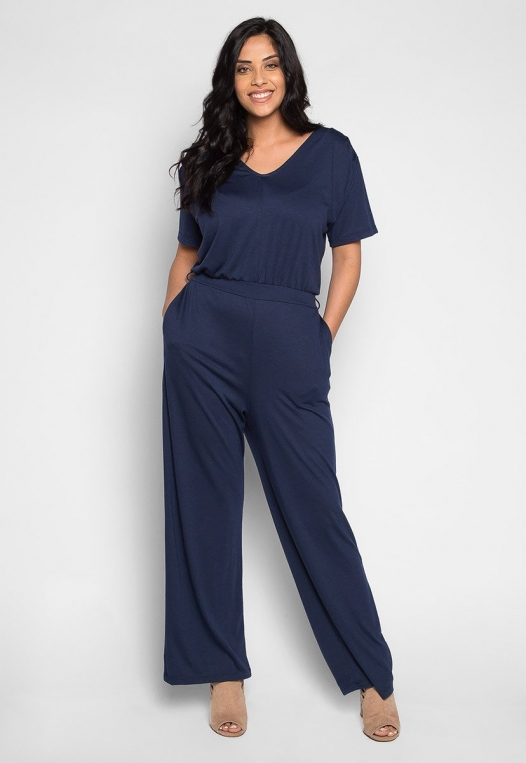 Plus Size Only You V Neck Jumpsuit alternate img #1