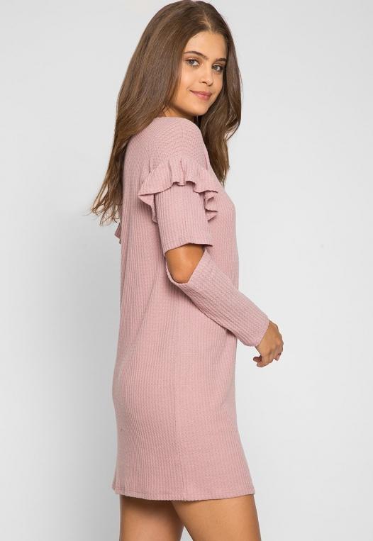 Milkshake Knit Dress in Light Pink alternate img #1