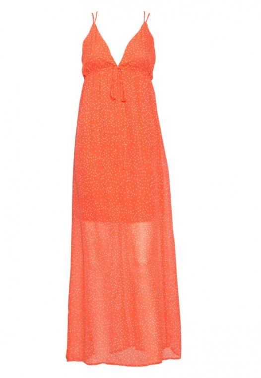 Sundae Polka Dot Chiffon Maxi Dress alternate img #8