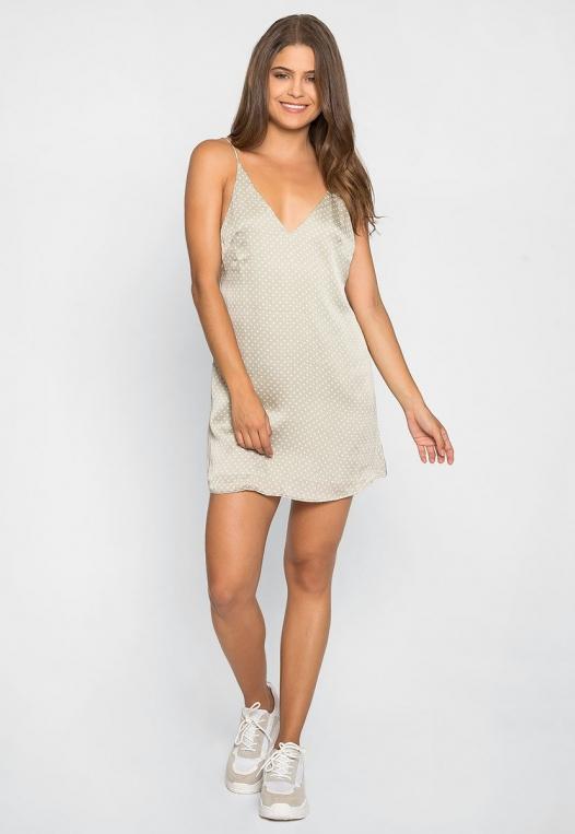 Sugar Dots Slip Dress in Gray alternate img #4