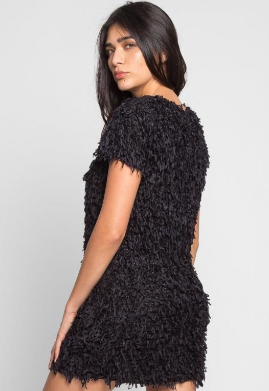 Roaring Fringe Dress in Black alternate img #2