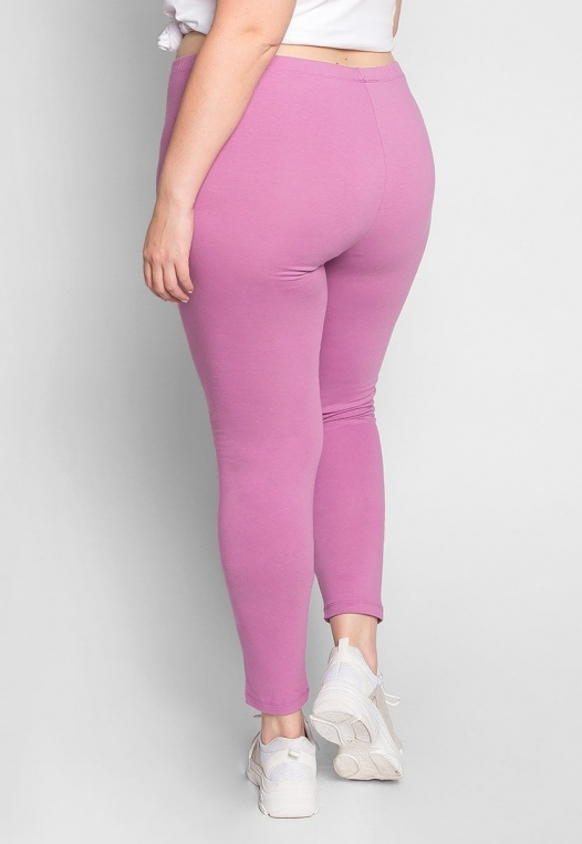 Plus Size Cotton Candy Leggings in Lavender alternate img #2