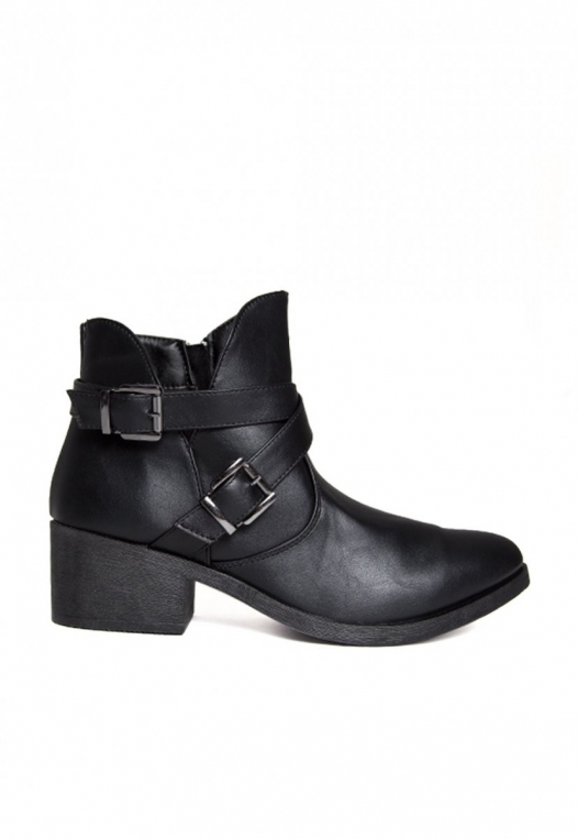 Tavern Buckle Ankle Boots in Black alternate img #1