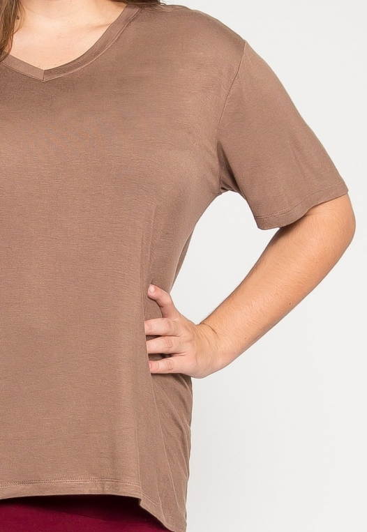 Plus Size Greatest Boxy Tee in Mocha alternate img #6