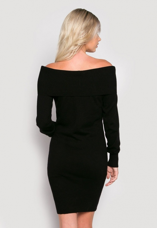 Cosmos Off Shoulder Sweater Dress alternate img #2