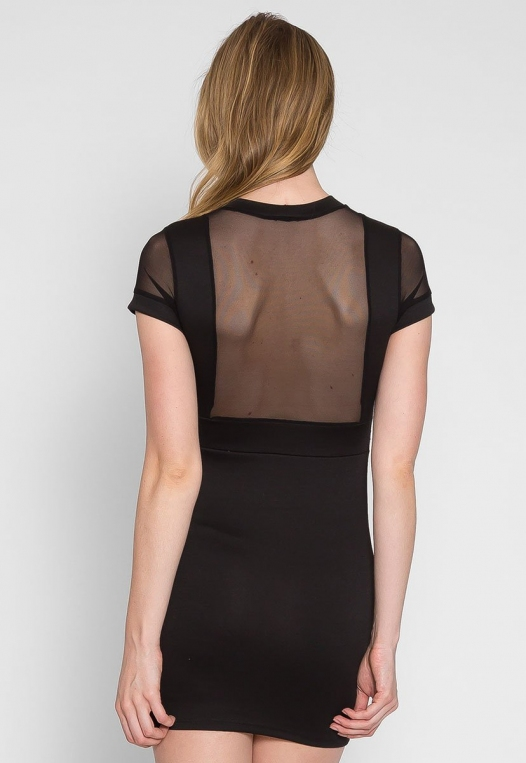 Sassy Mesh Panel Dress alternate img #4