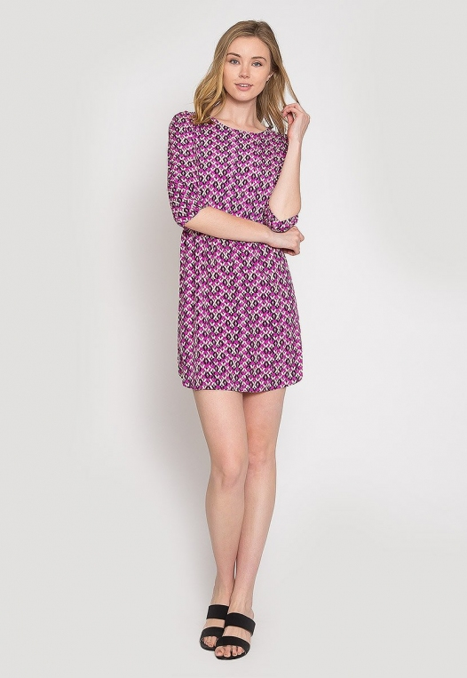 Quirky Geometric Printed Dress alternate img #5