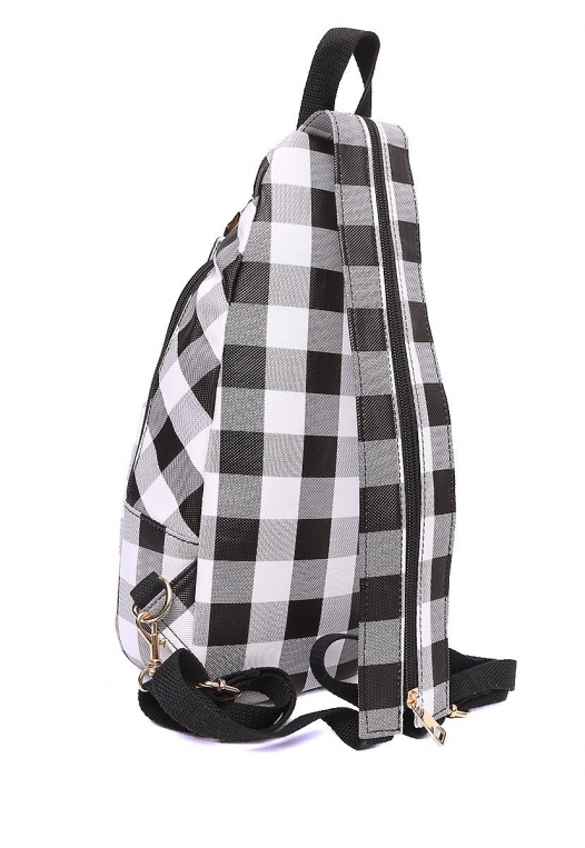 Picnic Gingham Convertible Sling Backpack alternate img #4