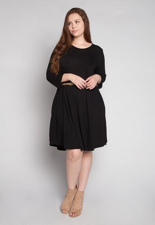 Plus Size Vancouver Dress in Black alternate img #4