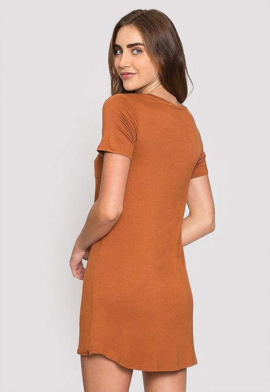 Hazelnut T-Shirt Dress alternate img #2