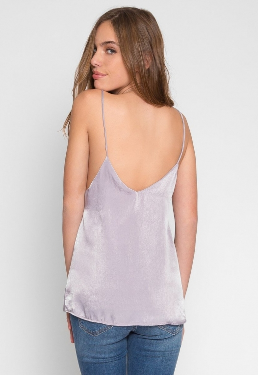Bright Eyes Satin Cami Top in Mauve alternate img #4