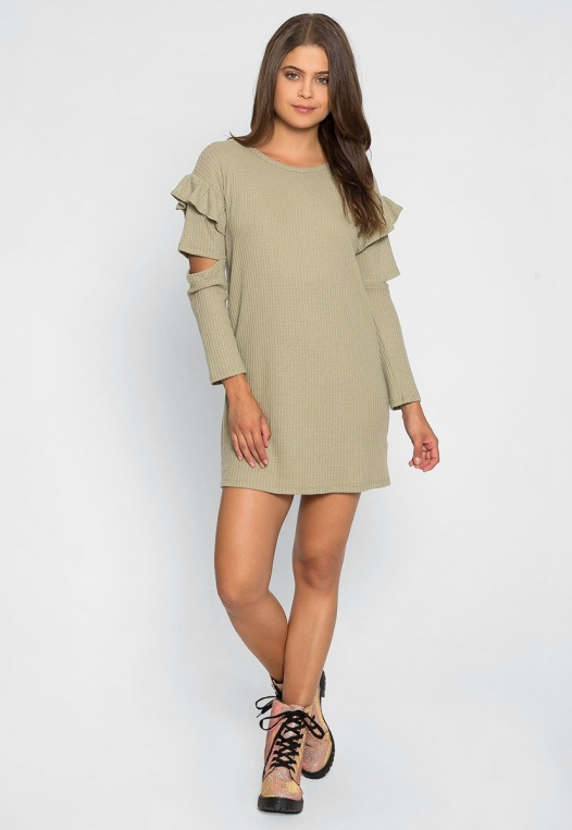 Milkshake Knit Dress in Sage alternate img #4