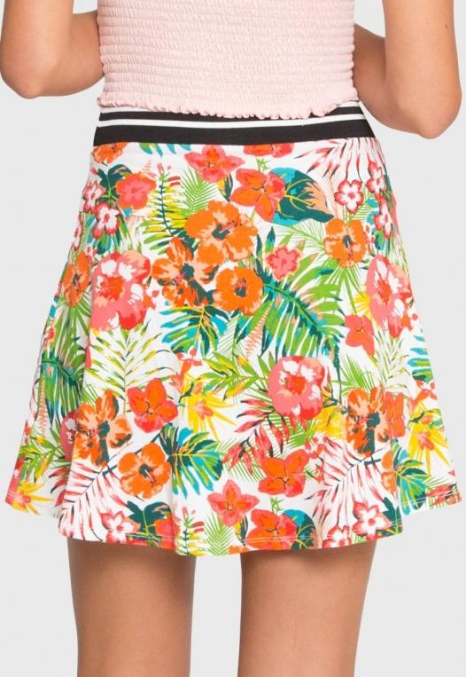 Halfmoon Tropic Print Flare Skirt alternate img #5