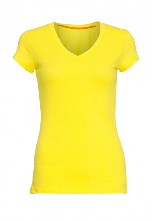 Chill V-Neck Basic Tee in Yellow alternate img #7