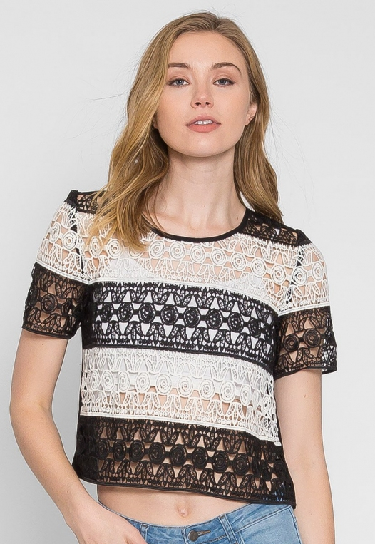 Upbeat Lace Top alternate img #1