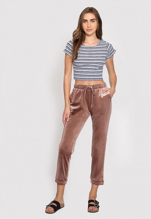 Baby Girl Stripe Crop Top in Blue alternate img #4