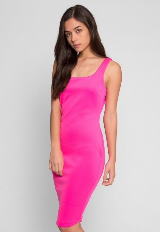 Newport Bodycon Dress in Pink alternate img #2