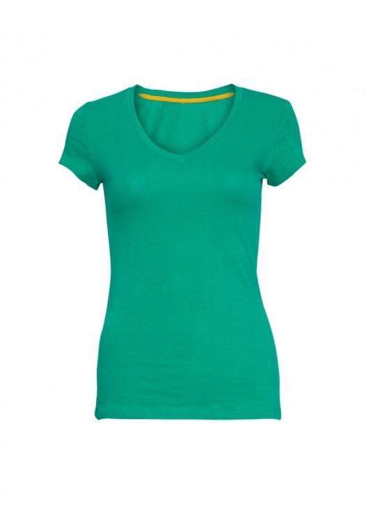 Chill V-Neck Basic Tee in Green alternate img #7