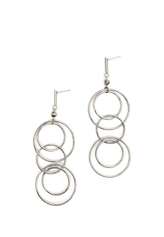 Bancroft Hoop Earrings in Silver alternate img #1