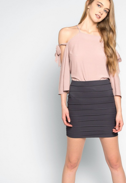 Keep a Secret Textured Mini Skirt alternate img #5