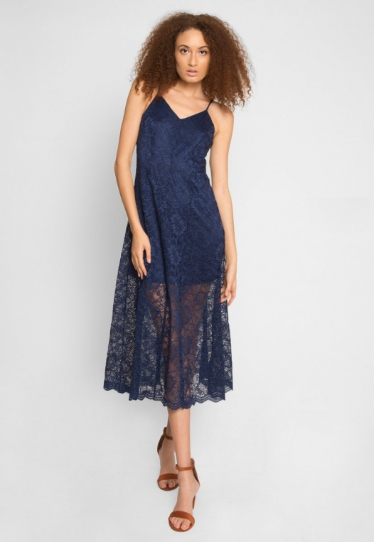 Manhattan Lace Maxi Dress in Navy alternate img #4