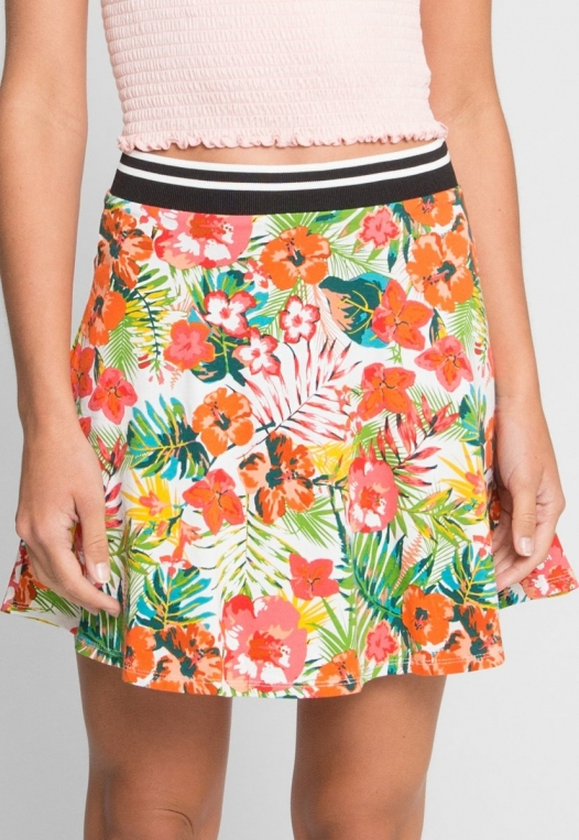 Halfmoon Tropic Print Flare Skirt alternate img #3