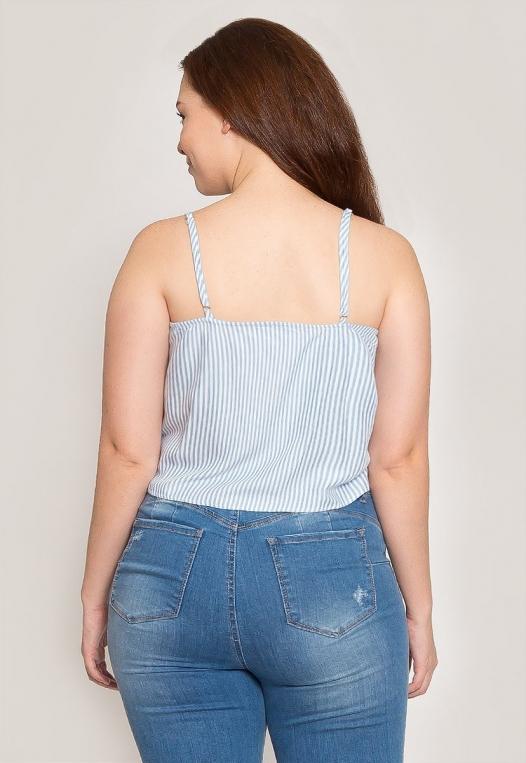 Plus Size Stripe Crop Top alternate img #2