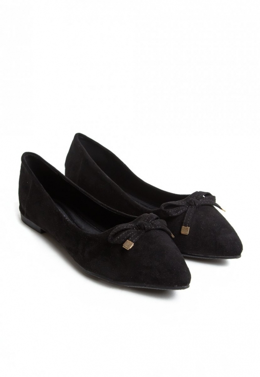 Lee Bow Front Flats in Black alternate img #5