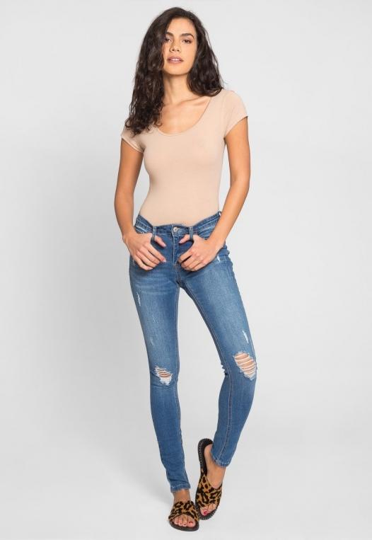 Juliet Short Sleeve Bodysuit in Khaki alternate img #4