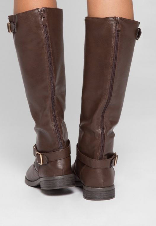 Justina Buckle Boots in Brown alternate img #3