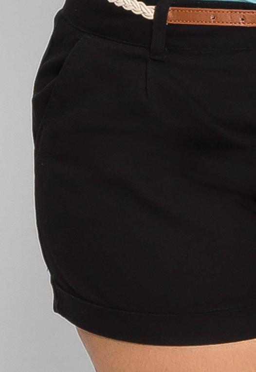 Plus Size Linen Braided Belt Shorts alternate img #6