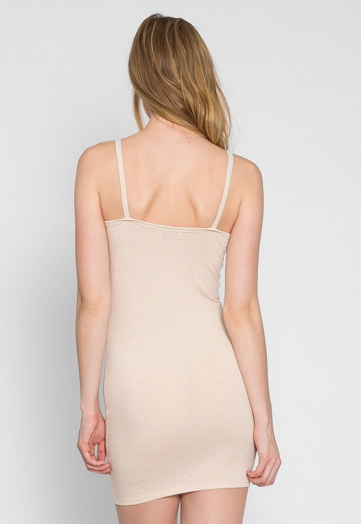 Day Out Knit Bodycon Dress in Beige alternate img #3